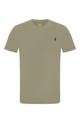 Мужская хлопковая футболка POLO RALPH LAUREN хаки цвета, арт. 710671438   Фото 1