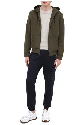 Мужская хлопковая футболка POLO RALPH LAUREN серого цвета, арт. 710680785 | Фото 2 (Рукава: Короткие; Материал внешний: Хлопок; Длина (для топов): Стандартные; Принт: Без принта; Стили: Кэжуэл)
