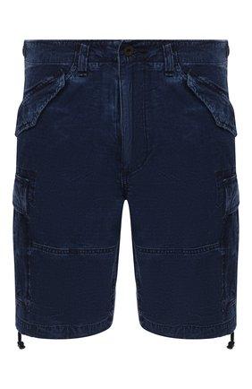Мужские джинсовые шорты POLO RALPH LAUREN синего цвета, арт. 710798730   Фото 1