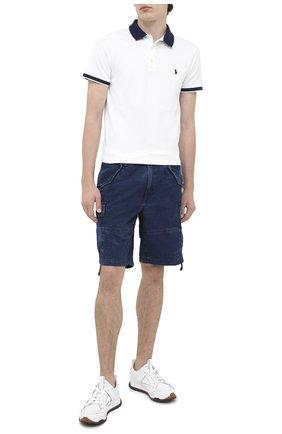 Мужские джинсовые шорты POLO RALPH LAUREN синего цвета, арт. 710798730   Фото 2