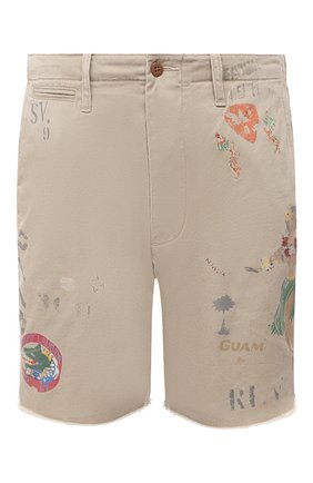 Мужские хлопковые шорты POLO RALPH LAUREN бежевого цвета, арт. 710800701 | Фото 1