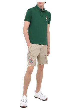 Мужские хлопковые шорты POLO RALPH LAUREN бежевого цвета, арт. 710800701 | Фото 2