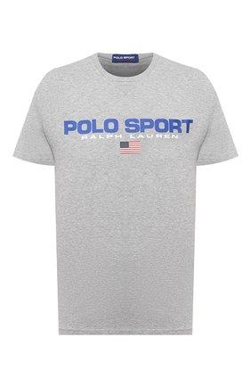 Мужская хлопковая футболка POLO RALPH LAUREN серого цвета, арт. 710800906 | Фото 1