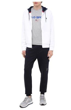 Мужская хлопковая футболка POLO RALPH LAUREN серого цвета, арт. 710800906 | Фото 2