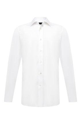 Мужская хлопковая сорочка ERMENEGILDO ZEGNA белого цвета, арт. 804080/9MS4PA | Фото 1
