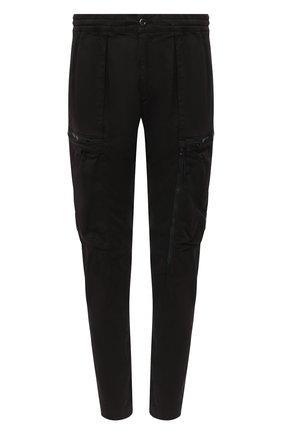 Мужской хлопковые брюки-карго C.P. COMPANY черного цвета, арт. 09CMPA136A-005529G | Фото 1