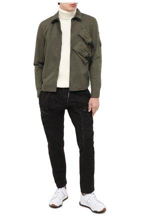 Мужской хлопковые брюки-карго C.P. COMPANY черного цвета, арт. 09CMPA136A-005529G | Фото 2
