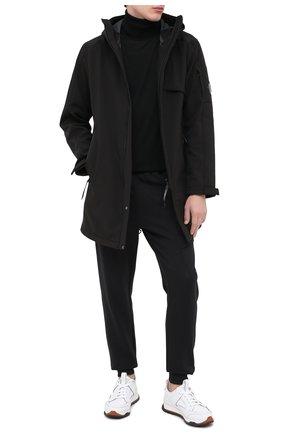Мужской хлопковые джоггеры C.P. COMPANY черного цвета, арт. 09CMSP010A-005086W | Фото 2