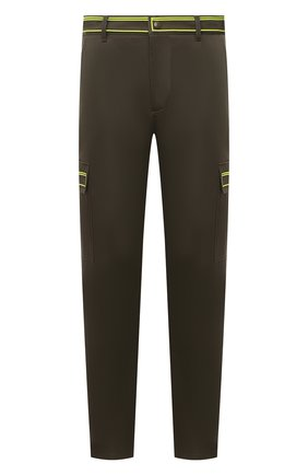 Мужской хлопковые брюки-карго VALENTINO хаки цвета, арт. UV3REB056GH   Фото 1