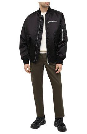 Мужской хлопковые брюки-карго VALENTINO хаки цвета, арт. UV3REB056GH   Фото 2