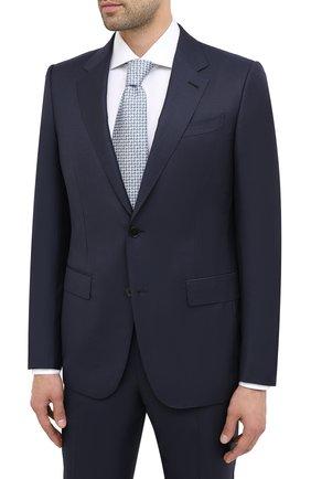 Мужской шерстяной костюм ERMENEGILDO ZEGNA темно-синего цвета, арт. 822066/221225 | Фото 2
