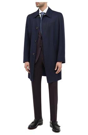 Мужской костюм из шерсти и шелка ERMENEGILDO ZEGNA бордового цвета, арт. 816605/21CSA7 | Фото 1