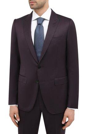 Мужской костюм из шерсти и шелка ERMENEGILDO ZEGNA бордового цвета, арт. 816605/21CSA7 | Фото 2