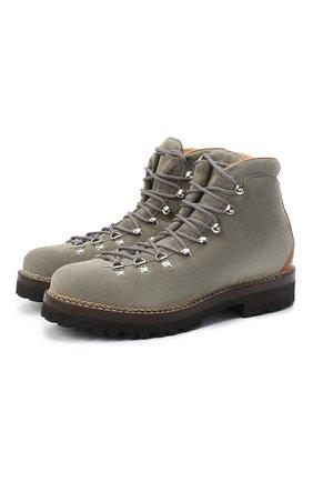 Мужские замшевые ботинки RALPH LAUREN серого цвета, арт. 815811330 | Фото 1