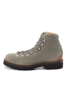Мужские замшевые ботинки RALPH LAUREN серого цвета, арт. 815811330   Фото 3