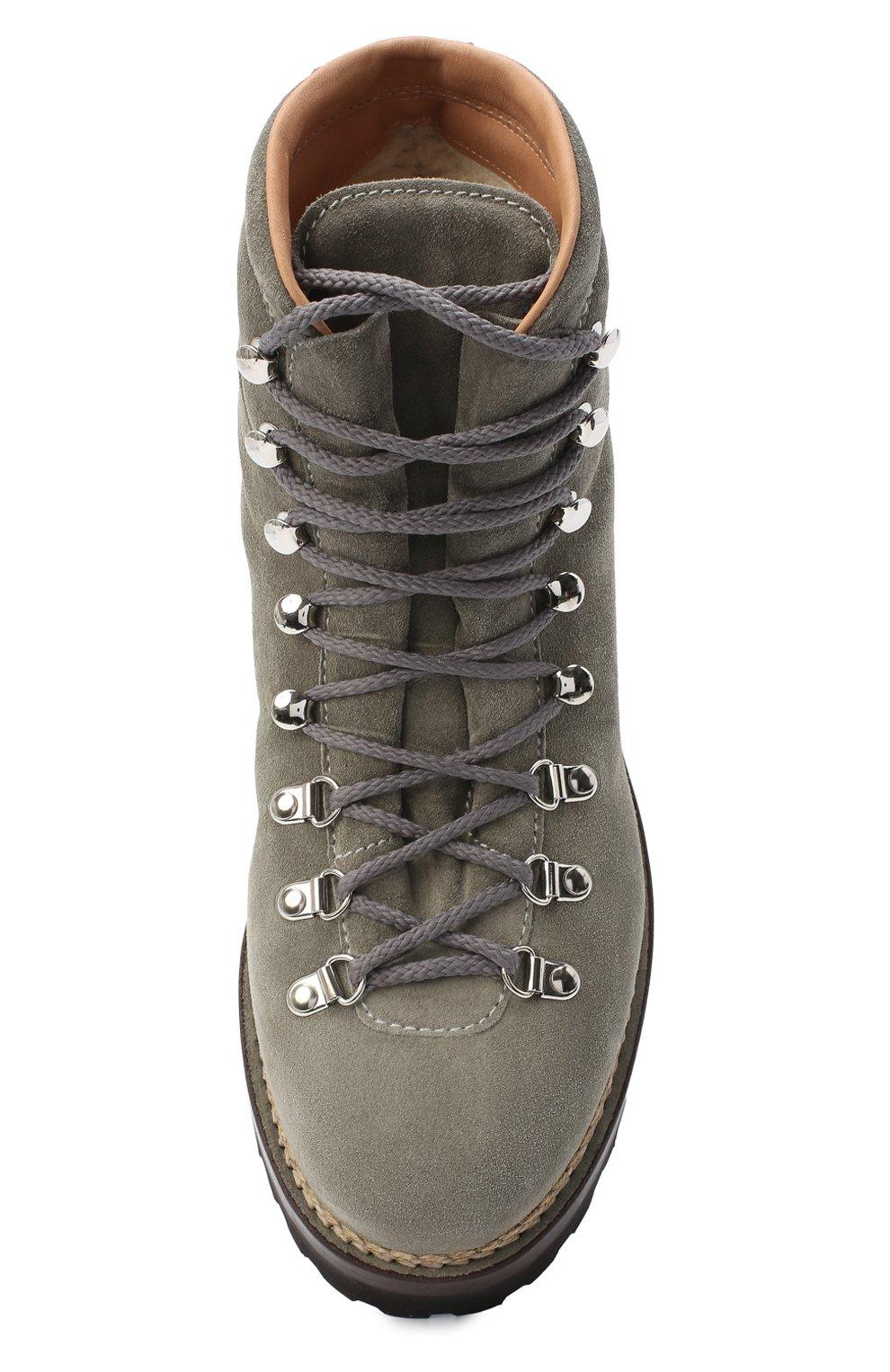 Мужские замшевые ботинки RALPH LAUREN серого цвета, арт. 815811330   Фото 5
