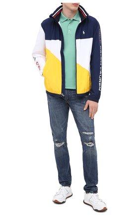 Мужское хлопковое поло POLO RALPH LAUREN светло-зеленого цвета, арт. 710652578 | Фото 2