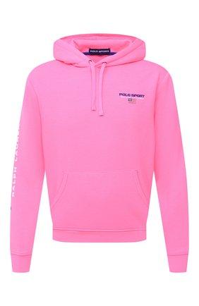 Мужской худи POLO RALPH LAUREN розового цвета, арт. 710800486 | Фото 1