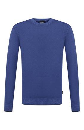 Мужской шерстяной джемпер BOSS синего цвета, арт. 50435289 | Фото 1