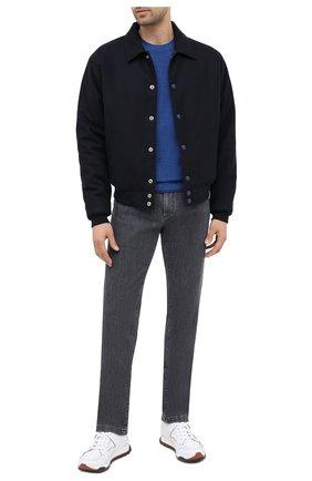 Мужской шерстяной джемпер BOSS синего цвета, арт. 50435289 | Фото 2