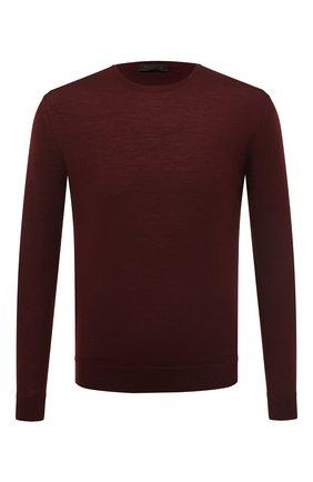 Мужской шерстяной джемпер PRADA бордового цвета, арт. UMM984-C5W-F0007 | Фото 1