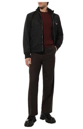 Мужской шерстяной джемпер PRADA бордового цвета, арт. UMM984-C5W-F0007 | Фото 2