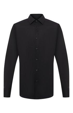 Мужская хлопковая сорочка PRADA черного цвета, арт. UCM608-F62-F0002   Фото 1