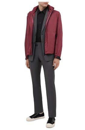 Мужская хлопковая сорочка PRADA черного цвета, арт. UCM608-F62-F0002   Фото 2