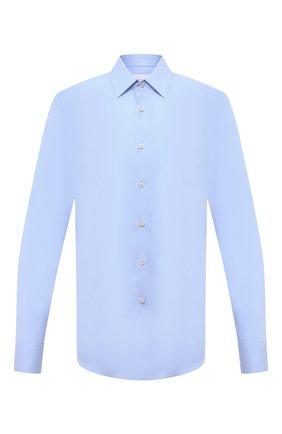 Мужская хлопковая сорочка PRADA голубого цвета, арт. UCM608-F62-F0012   Фото 1