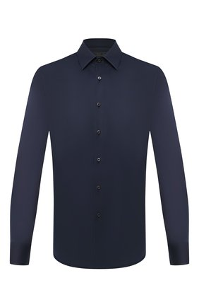 Мужская хлопковая сорочка PRADA синего цвета, арт. UCM608-F62-F0008 | Фото 1
