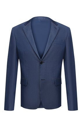Мужской шерстяной пиджак PRADA синего цвета, арт. SD020-1VTJ-F0081-182   Фото 1