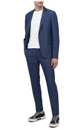 Мужской шерстяной пиджак PRADA синего цвета, арт. SD020-1VTJ-F0081-182   Фото 2