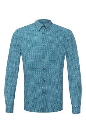 Мужская хлопковая сорочка PRADA бирюзового цвета, арт. UCN160-1VYU-F0089-181   Фото 1