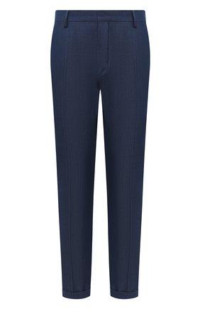 Мужской шерстяные брюки PRADA синего цвета, арт. SPD91-1VTJ-F0081-172   Фото 1