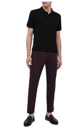 Мужские кожаные слипоны PRADA черного цвета, арт. 4D3414-6DT-F0002 | Фото 2