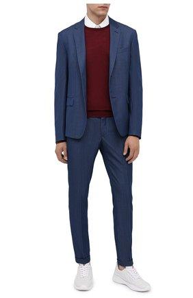 Мужские кожаные кроссовки PRADA белого цвета, арт. 4E3390-072-F0009 | Фото 2 (Подошва: Массивная; Материал внешний: Кожа; Стили: Гранж)