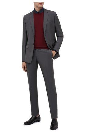 Мужские кожаные оксфорды PRADA черного цвета, арт. 2EB187-P39-F0002-X001 | Фото 2 (Мужское Кросс-КТ: Броги-обувь; Стили: Классический)