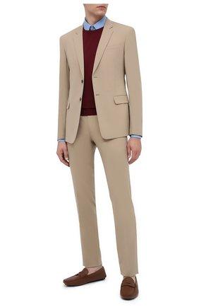Мужские кожаные мокасины PRADA коричневого цвета, арт. 2DD158-053-F0BW5-U00I | Фото 2