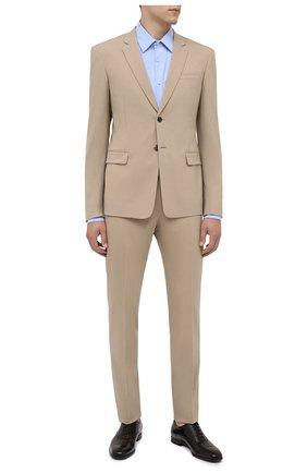 Мужские кожаные оксфорды PRADA коричневого цвета, арт. 2EB187-P39-F0038-X001 | Фото 2