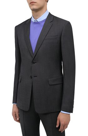 Мужской шерстяной костюм PRADA серого цвета, арт. UAE482-1N0L-F0170-201 | Фото 2
