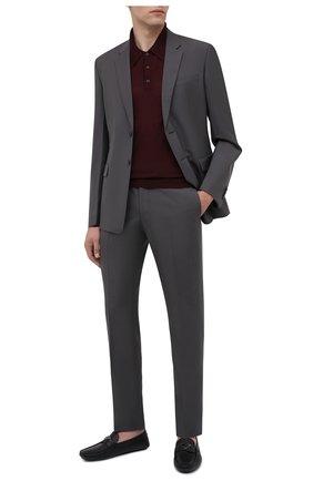 Мужские кожаные мокасины PRADA черного цвета, арт. 2DD164-053-F0002-U00I | Фото 2