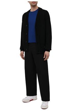 Мужская хлопковая футболка PRADA синего цвета, арт. UJM564-1UOR-F0AIN-092   Фото 2