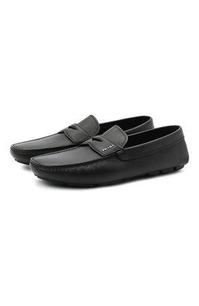 Мужские кожаные мокасины PRADA черного цвета, арт. 2DD158-053-F0002-U00I | Фото 1