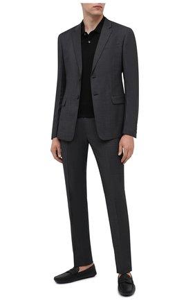 Мужские кожаные мокасины PRADA черного цвета, арт. 2DD158-053-F0002-U00I | Фото 2