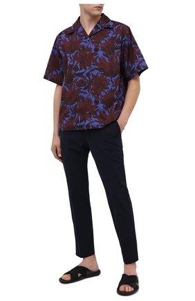 Мужские комбинированные шлепанцы PRADA черного цвета, арт. 2X3032-3KXT-F0002 | Фото 2 (Материал внешний: Текстиль)