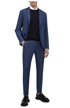 Мужские кожаные дерби PRADA черного цвета, арт. 2EE307-B4L-F0002 | Фото 2