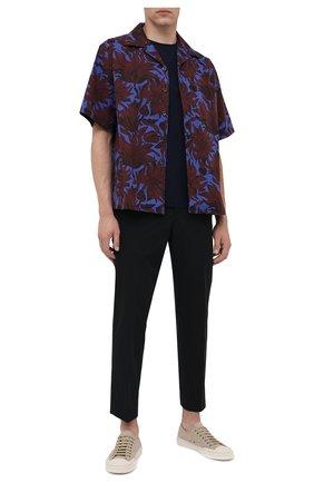 Мужские текстильные кеды PRADA бежевого цвета, арт. 4E3548-2OFZ-F0065 | Фото 2