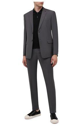 Мужские текстильные кеды PRADA черного цвета, арт. 4E3548-2OFZ-F057Z | Фото 2 (Материал внешний: Текстиль; Подошва: Плоская)