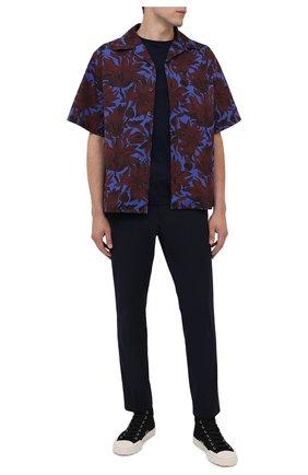 Мужские текстильные кеды PRADA черного цвета, арт. 4T3549-2OFZ-F057Z | Фото 2
