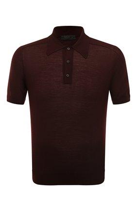 Мужское поло из кашемира и шерсти PRADA бордового цвета, арт. UMB113-1W7T-F0007-202 | Фото 1